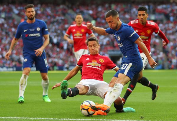 Ander Herrera, durante un partido con el United