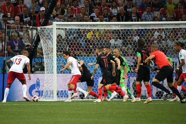 Questo è il gol realizzato da Jorgensen e che ha portato momentaneamente avanti nel punteggio la Danimarca