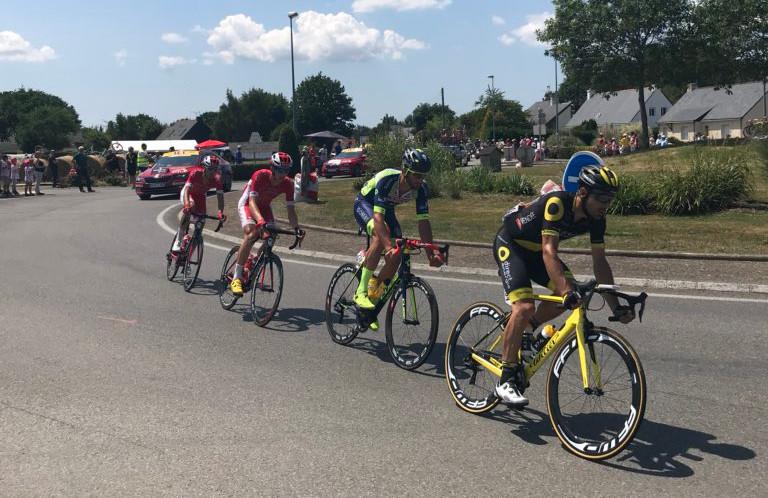 Los 4 fugados del día en el Tour de Francia, desde el coche del Cofidis
