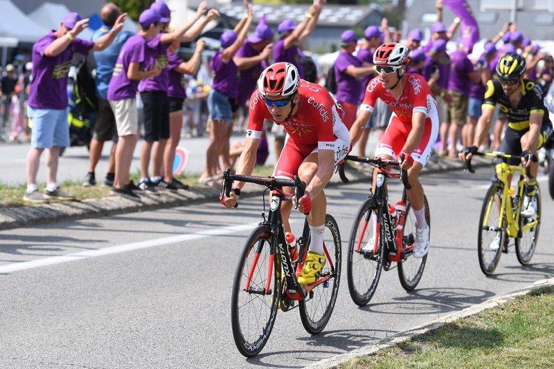 Anthony Pérez y Dimitri Claeys (Cofidis), protagonistas en la escapada de hoy en el Tour de Francia