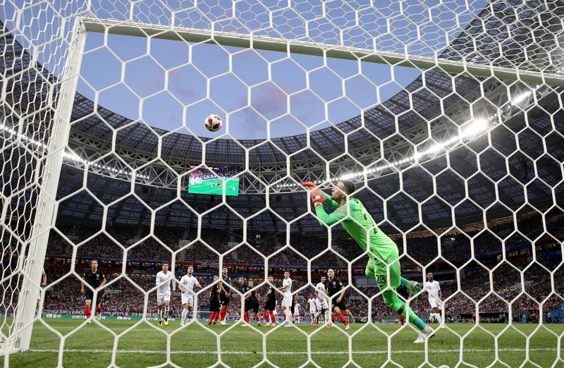 Así entró el fantástico gol de Trippier que adelantó a Inglaterra al inicio del encuentro