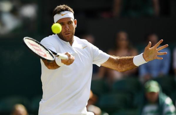 Juan Martín del Potro buscando sus segundas semifinales en Wimbledon, su primera victoria sobre hierba en tres partidos con Rafa Nadal FOTO: GETTY