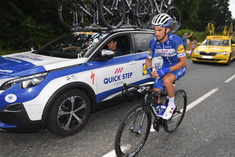 JULIEN ALAPHILIPPE (Quick-Step) es uno de los favoritos al triunfo en el Muro de Bretaña. Si gana la etapa podría ponerse líder en el Tour de Francia 2018