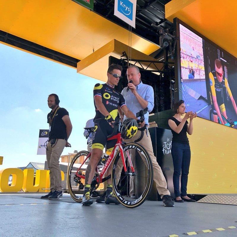 SYLVAIN CHAVANEL (Direct Energie) se ha metido en dos escapadas de este Tour de Francia. Hoy su equipo vuelve a tener dos corredores en la fuga del día