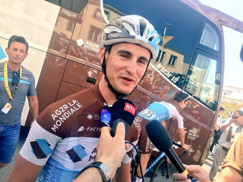 ALEXIS VUILLERMOZ (AG2R) fue el último ganador en el Muro de Bretaña. Se llevó la etapa del Tour de Francia en el año 2015
