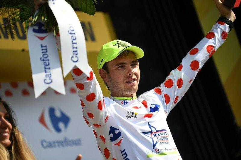 DION SMITH (Wanty) es uno de los protagonistas de la escapada en el Tour de Francia. El neozelandés quiere luchar por recuperar el maillot de lunares rojos