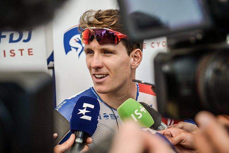 ARNAUD DÉMARE (Groupama-FDJ) fue tercero en una de las primeras etapas del Tour de Francia 2018. ¿Aprovechará el terreno que pica hacia arriba para conseguir el triunfo?