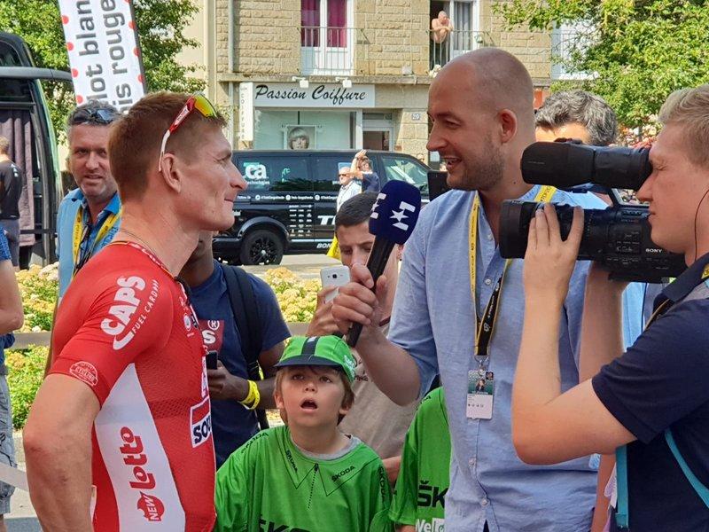 ANDRÉ GREIPEL (Lotto Soudal) hizo un gran sprint en la 4ª etapa del Tour de Francia 2018. ¿Tendrá opciones de triunfo de nuevo hoy en Chartres?