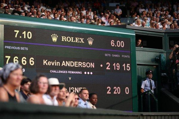 El momento en que Anderson e Isner llegaron a las seis horas de semifinal