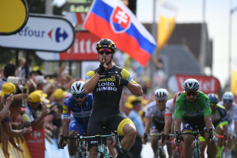 Gran triunfo de Dylan Groenewegen (Lotto Jumbo) en esta 7ª etapa del Tour de Francia 2018