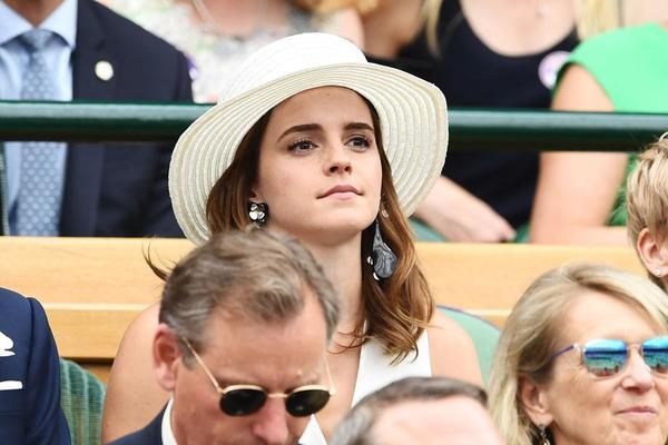 La actriz Emma Watson, otra de las invitadas en el Royal Box de la central de Wimbledon FOTO: AP