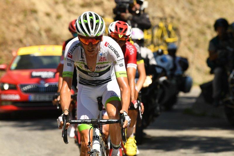 WARREN BARGUIL (Fortuneo) ganó la clasificación de la montaña en el Tour de Francia 2017. Parece que quiere volver a luchar por el maillot de lunares rojos