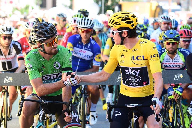 GERAINT THOMAS (Sky) es el nuevo líder del Tour de Francia. Ayer consiguió el triunfo en La Rosière. Peter Sagan (Bora) mantiene el maillot verde con mucha comodidad