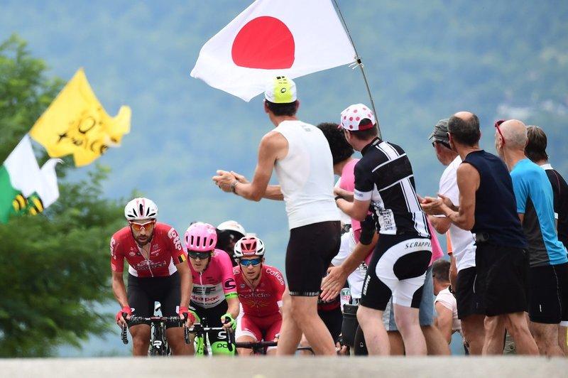 La afición al ciclismo se vive en todo el mundo. Aficionados asiáticos, presentes en el Tour de Francia 2018