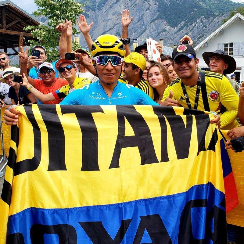 Nairo Quintana (Movistar), 8º en la clasificación general del Tour de Francia: 'Cada día una batalla, de pie continuo dando todo lo que tengo. Orgulloso de mi bandera. Feliz dia de la independencia'