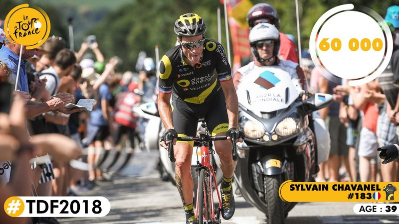 SYLVAIN CHAVANEL (Direct Energie) ya lleva más de 60.000 kilómetros recorridos en el Tour de Francia