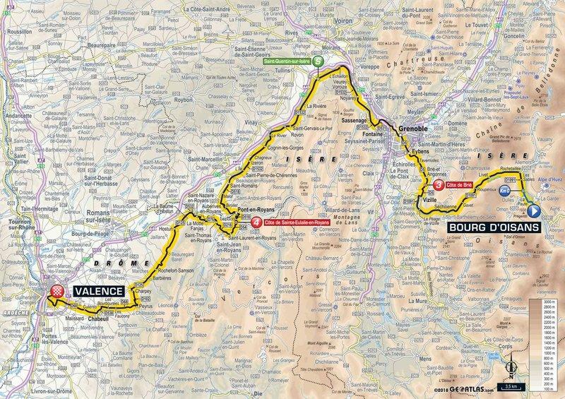 En esta 13ª etapa los ciclistas del Tour de Francia se alejan de los Alpes... ¡y de la alta montaña!