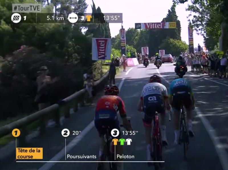 Uno de estos tres ciclistas se va a llevar la etapa