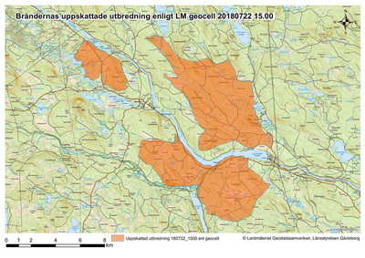 Karta Over Skogsbrander I Sverige.Ekots Direktrapportering Om Skogsbranderna 24 Juli Nyheter Ekot