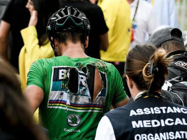 Peter Sagan bereft of rivals and favourite for stage 18 despite  hard crash  cafa2b3d4