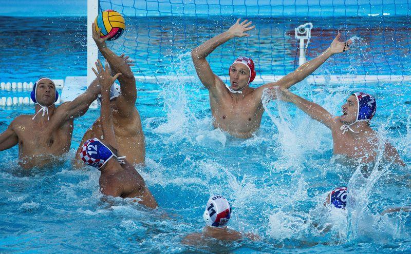 Imagen del Serbia-Croacia. Serbia venció 9-7 y estará en la final
