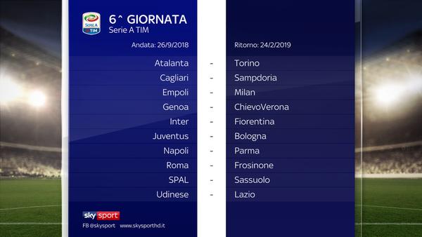 Il Calendario Di Serie A 2018 2019 Sky Sport