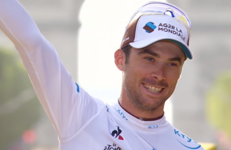 Pierre Latour ha sido el mejor clasificado entre los ciclistas menores de 25 años de edad y se lleva el maillot blanco