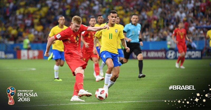 Momento del gol de De Bruyne. fifaworldcup_es