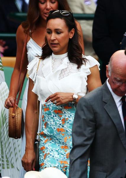 Jessica Ennis, ex heptatleta invitada en el Royal Box, que el primer sábado del torneo acoge a muchas estrellas del deporte británico e internacional FOTO: GETTY