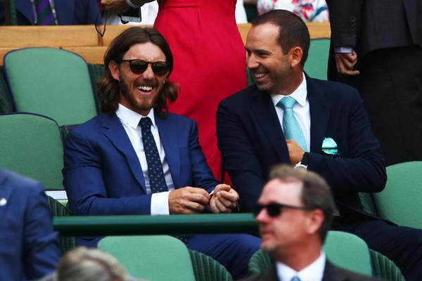 El golf, representado en el Royal Box. Sergio García junto a su colega Tommy Fleetwood FOTO: GETTY