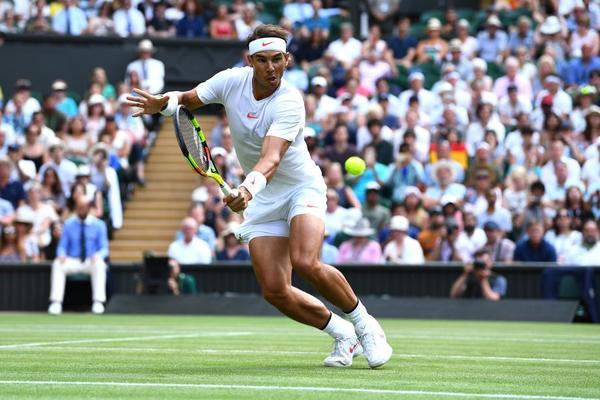 Rafa Nadal ha empezado muy bien contra Jiri Vesely. Busca sus primeros cuartos de final de Wimbledon desde su quinta y última final, en 2011.FOTO: GETTY