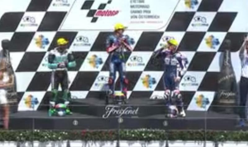 El podio de la categoría pequeña en el GP de Austria