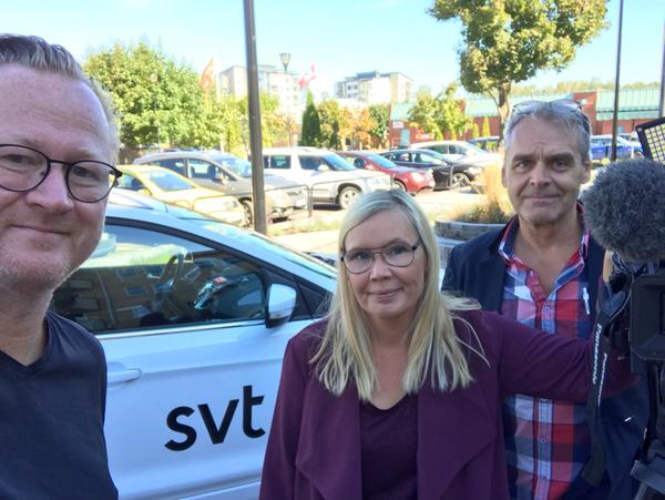 Nu är vi på plats i Skoghalls centrum. Kom och träffa oss! / Bengt, Jenny och Tomas