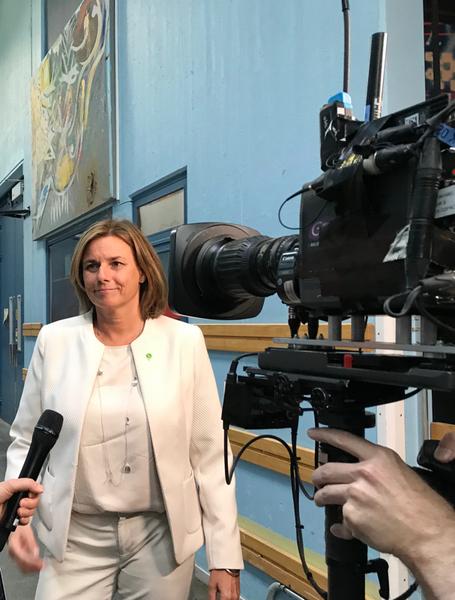 Jag ser fram emot att få tala om Miljöpartiets politik, säger Isabella Lövin inför den stundande utfrågningen.