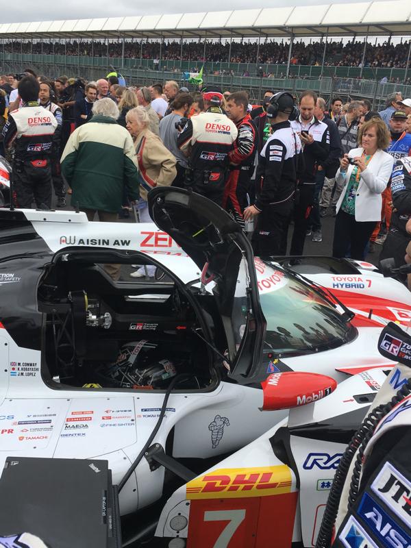 El asiento del Toyota número 7, en la pole