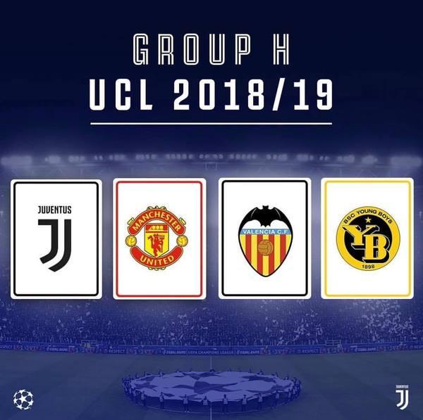 Champions Calendario Juve.Sorteggi Champions 2018 I Gruppi Delle Italiane Gironi Di