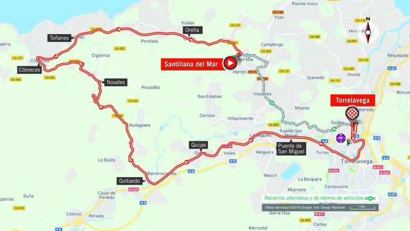 RECORRIDO de la contrarreloj individual larga de la Vuelta 2018