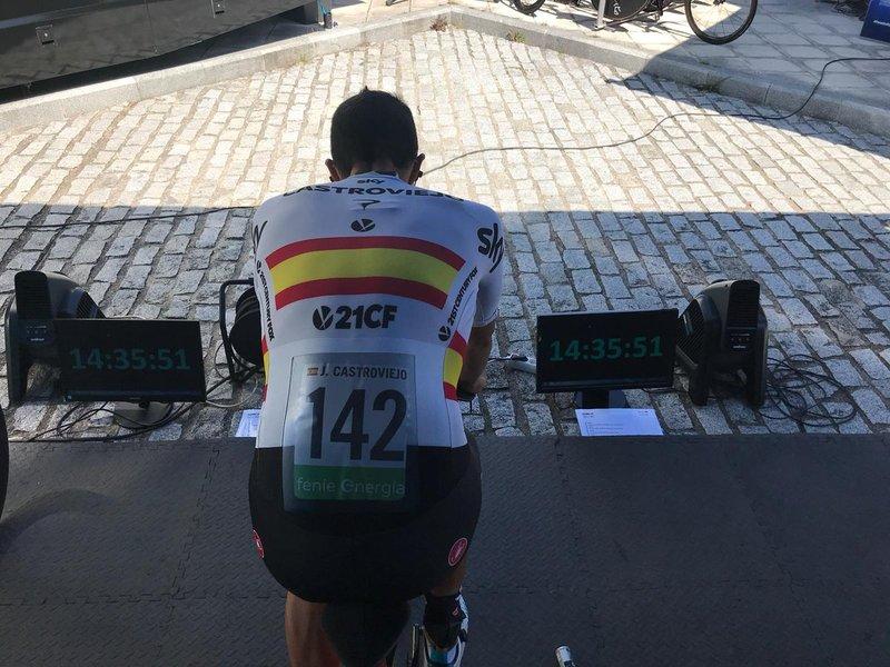 JONATHAN CASTROVIEJO (Sky), uno de los candidatos al triunfo en esta 16ª etapa de la Vuelta a España 2018