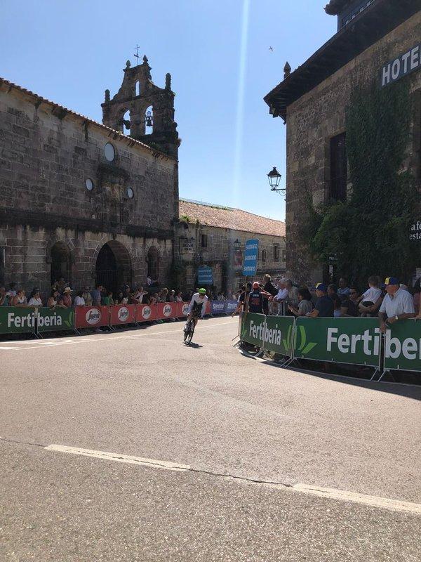 STEVE CUMMINGS (Dimension Data), mejor tiempo provisional en el primer punto intermedio de la contrarreloj larga de la Vuelta 2018