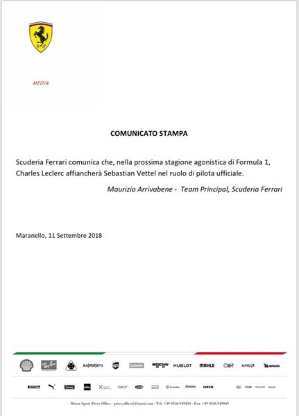 Leclerc in Ferrari 🏎