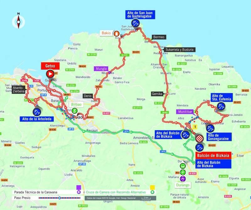 RECORRIDO de la 17ª etapa de la Vuelta a España 2018