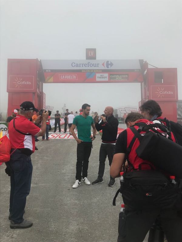 ALBERTO CONTADOR, protagonista en la meta de hoy en la Vuelta a España 2018