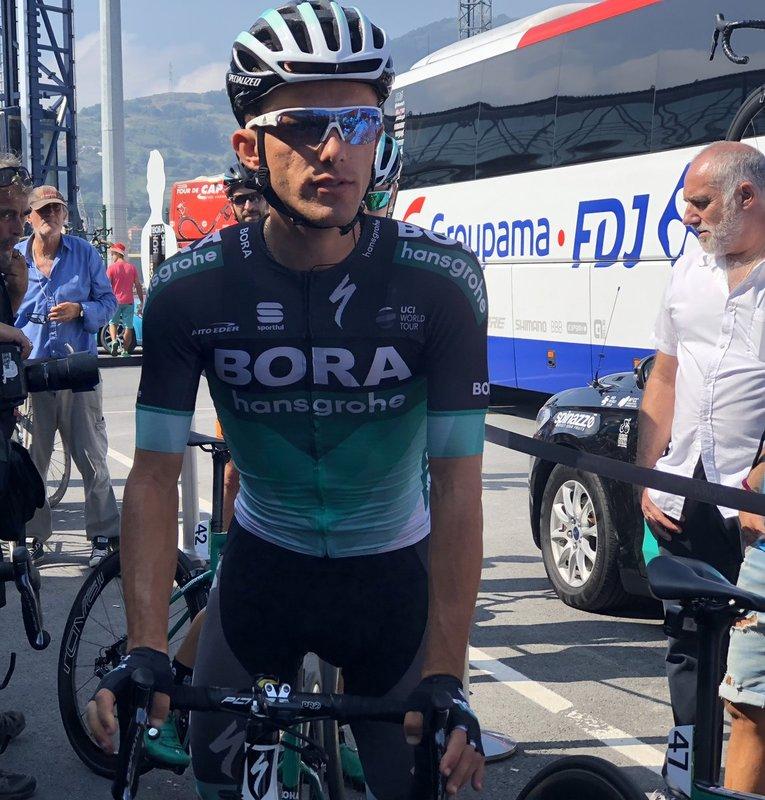 RAFA MAJKA (Bora) celebra su aniversario en la escapada de la Vuelta a España 2018