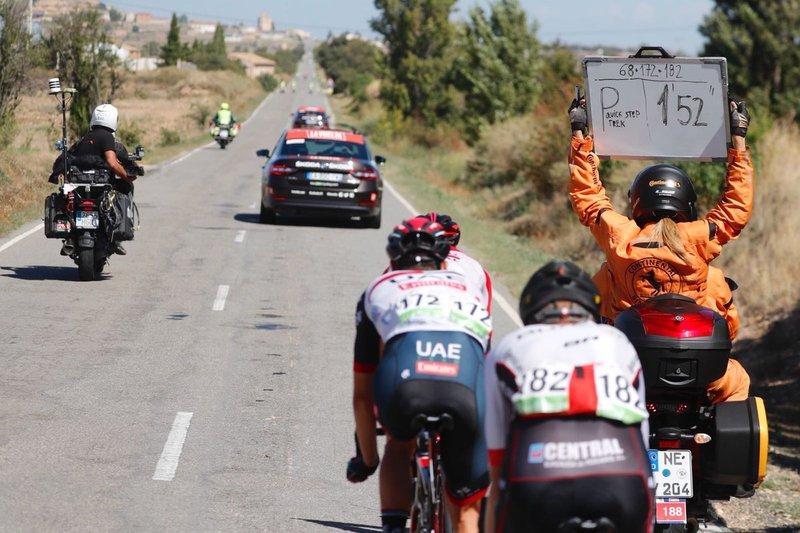 TRÍO DE ESCAPADOS. Protagonistas valientes en un recorrido poco propicio para el triunfo de la fuga en la Vuelta a España 2018