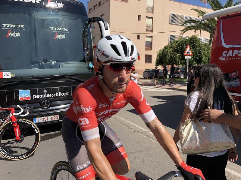 GIACOMO NIZZOLO (Trek-Segafredo) busca hoy su primer triunfo de etapa en la Vuelta a España