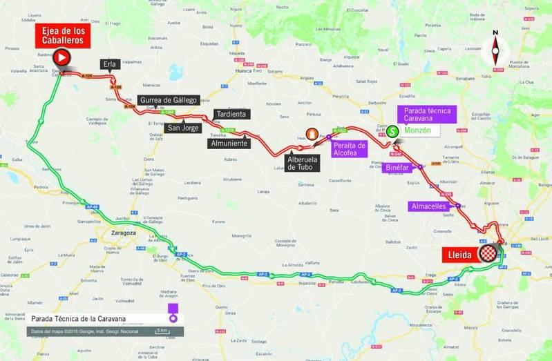 RECORRIDO de esta 18ª etapa de la Vuelta 2018 con final en Lleida