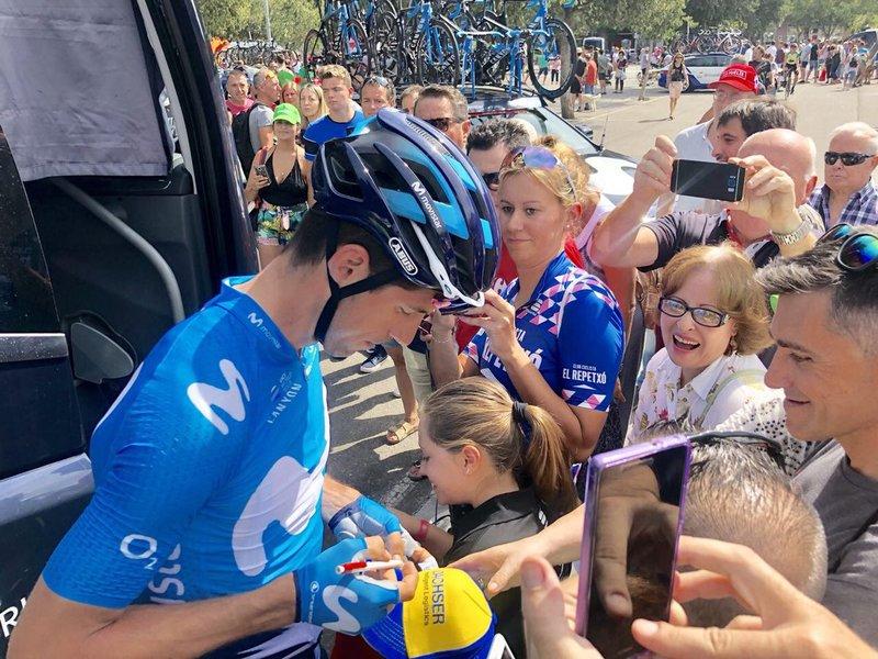 MOVISTAR está controlando la carrera en esta 19ª etapa de la Vuelta a España 2018