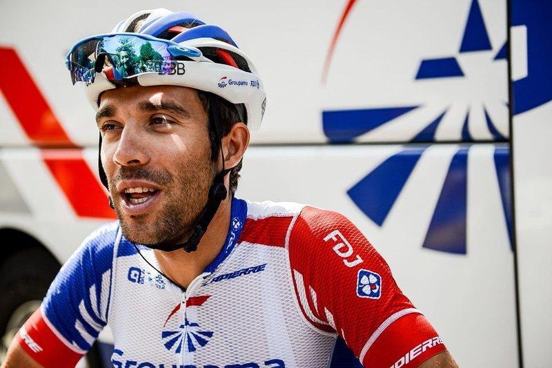 THIBAUT PINOT (Groupama-FDJ) contacta con Quintana y Kruijswijk en cabeza de carrera en esta 19ª etapa de la Vuelta a España 2018
