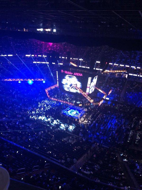Imagen aérea del ring en el interior del T-Mobiles de Las Vegas