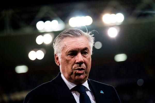 La faccia preoccupata di Ancelotti
